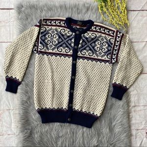 VTG Dale of Norwary Nordic Wool Cardigan XL